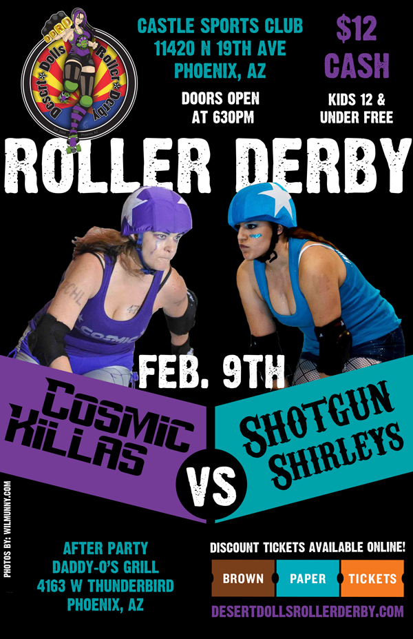 Desert Dolls Roller Derby - Cosmic Killas vs Shotgun Shirleys