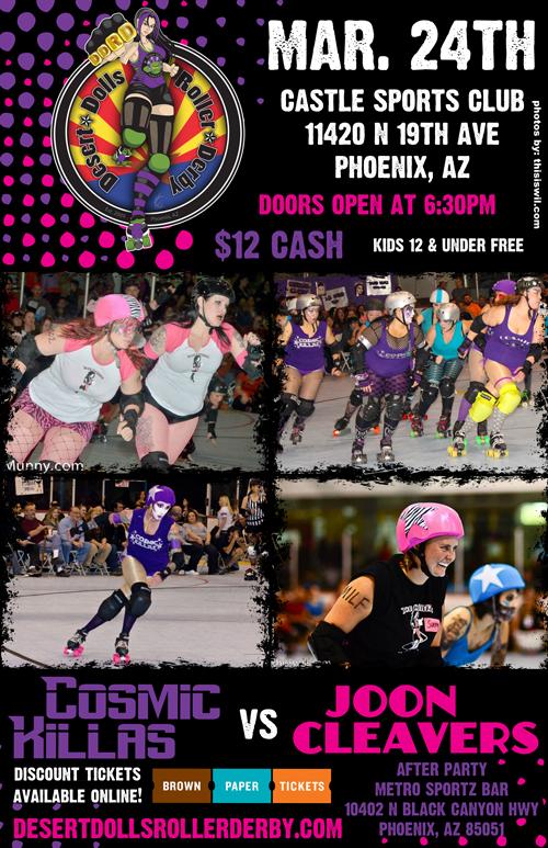 Desert Dolls Roller Derby - Cosmic Killas vs Joon Cleavers