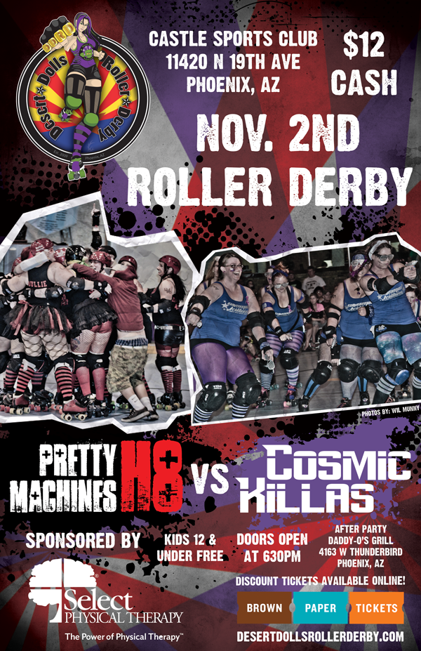 Desert Dolls Roller Derby - Pretty H8 Machines vs Cosmic Killas