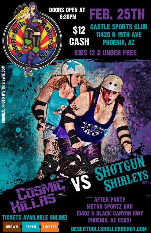Desert Dolls Roller Derby - Cosmic Killas vs Shotgun Shirleys