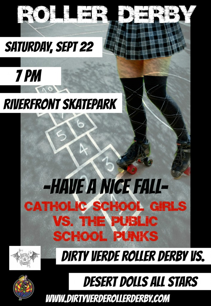 Have a nice fall - Dirty Verde Roller Derby